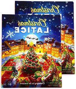 Christmas Latice Cards Strategy Game 2-Pack