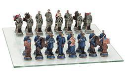 Civil War Themed Chess Piece Set