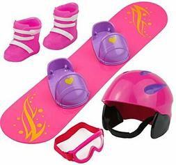 Click n' Play Doll Snowboard Set and Accessories. Perfect Fo
