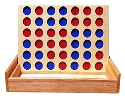 Travel Connect 4 Board Games Wooden Foldable Line up 4 in a