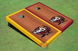 Corn Hole Ncaa Temple University Owls Rosewood Stain Red and