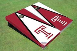 Corn Hole Ncaa Temple University T Red and White Alternating