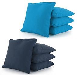 Cornhole Bags Set of 8 by Tailor Spot Corn-Filled ACA Regula