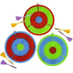 Gamie Dart Board Set for Kids | Includes 3 Dartboards and 6