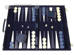 15-inch Deluxe Backgammon Set - Blue - NEW | Classic Board G