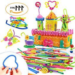 Peradix Building Toys 111 PCS Flexible Building Sticks for K