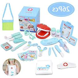 Hailey&Elijah Doctor Kit for Kids 26 Pieces Dentist Tool Kid