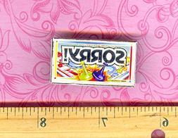Dollhouse Miniature Size Board Game SORRY Box - My Mini Fair