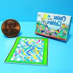 Dollhouse Miniature Chutes & Ladders Board Game w/Box Printe
