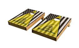 Don't Tread On Me Black American Flag Design - Tailgate Corn