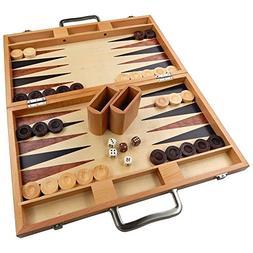Duboce Inlaid Walnut, Beech, Sapele, and Bass Wood Backgammo