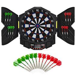 Best Choice Products Electronic Dartboard Sport Game Set w/C