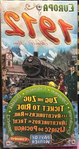 Europa 1912 Expansion Ticket To Ride Board Game Days Of Wond