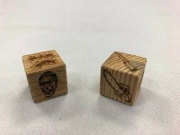 Evil Dead 2 Board Game -  Dice Made From Wood From Actual Mo