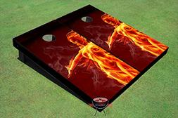 Fire Girl Theme Corn Hole Boards Cornhole Game Set