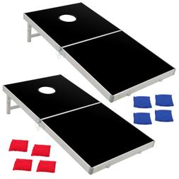 Foldable Bean Bag Toss Cornhole Game Set Boards Regulation S