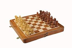 The House of Staunton FOLDING WOODEN MAGNETIC Travel Chess S