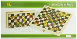 Folding Wooden Snakes and Ladders Game, New, Free Shipping