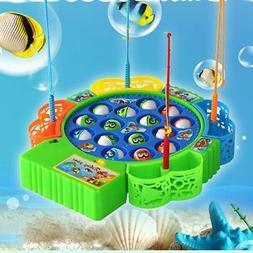 Fun Kids Fishing Game Toy Children Team Play Action Rolling