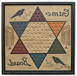 game board chinese checkers sign