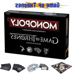 Game of Thrones Monopoly Board Game Party Home Game Fun Game