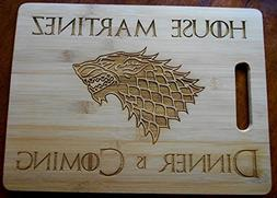 Game of Thrones Personalized Bamboo Cutting Board 11 by 15""