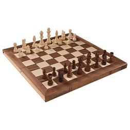 """15"""" Standard Game Wooden Chess Set Pieces Magnet Portable Ha"""