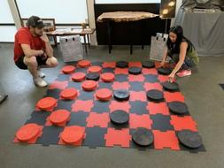 Giant 8ft Checkers Game Biggest In WORLD Foldable puzzle Sty