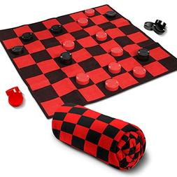 """Giant Checkers Rug Set by Gamie 