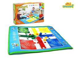 Great Parchis Mat Game for Indoor and Outdoor Use - Compact