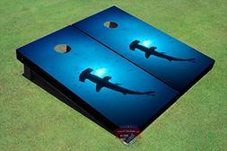 Hammer Head Shark #1 Theme Corn Hole Boards Cornhole Game Se