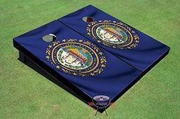 New Hampshire Waving Flag Theme Corn Hole Boards Cornhole Ga