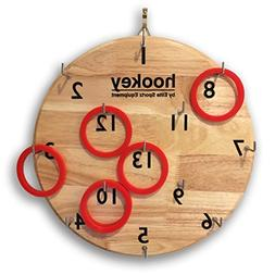 Elite Hookey Ring Toss Game - Safer Than Darts, Just Hang it