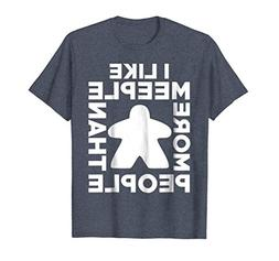 Mens I Like Meeple More Than People T-Shirt For Board Game L