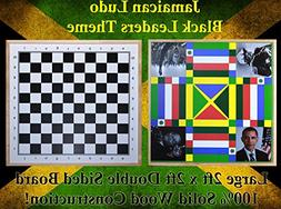 Jamaican Ludo  + Checkers | 2ft x 2ft Double Sided Game Boar