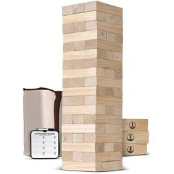 Jenga Game Giant Tower Outdoor Lawn Pool Toppling Wooden Blo