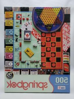 "Springbok Jigsaw Puzzle ""Board Games"" 500 Piece 20"" x 20"" Se"