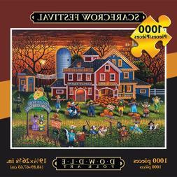 Jigsaw Puzzle - Scarecrow Festival 1000 Pc By Dowdle Folk Ar