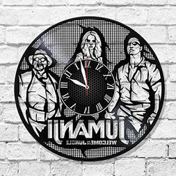 JUMANJI Handmade Vinyl Record Wall Clock - Get unique home r