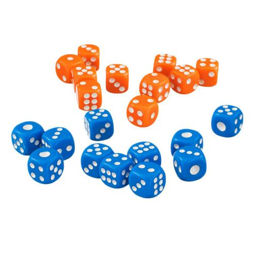 100pcs Six Sided D6 Dice for D&D TRPG Party Poker Card Board