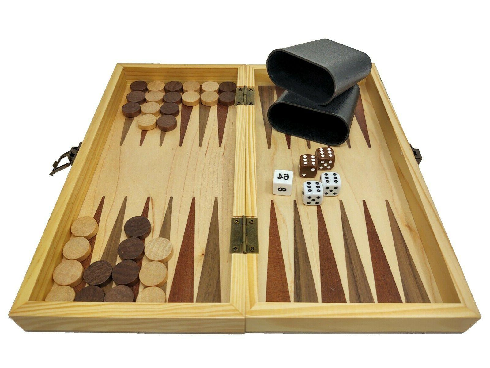 DA VINCI 3-in-1 Combination Chess, and Backgammon Game