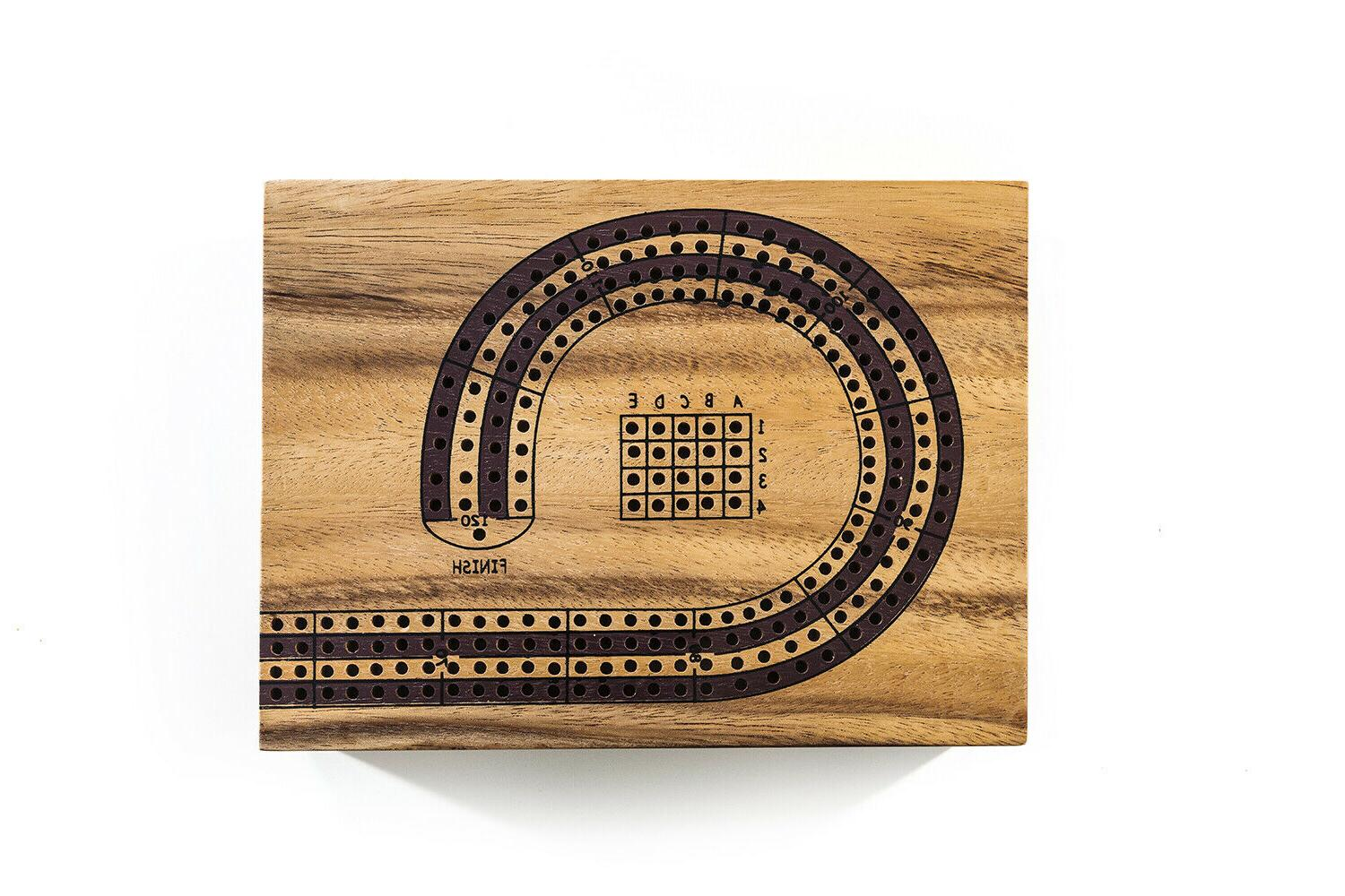 Player Cribbage Game, Wooden game, Cards Game