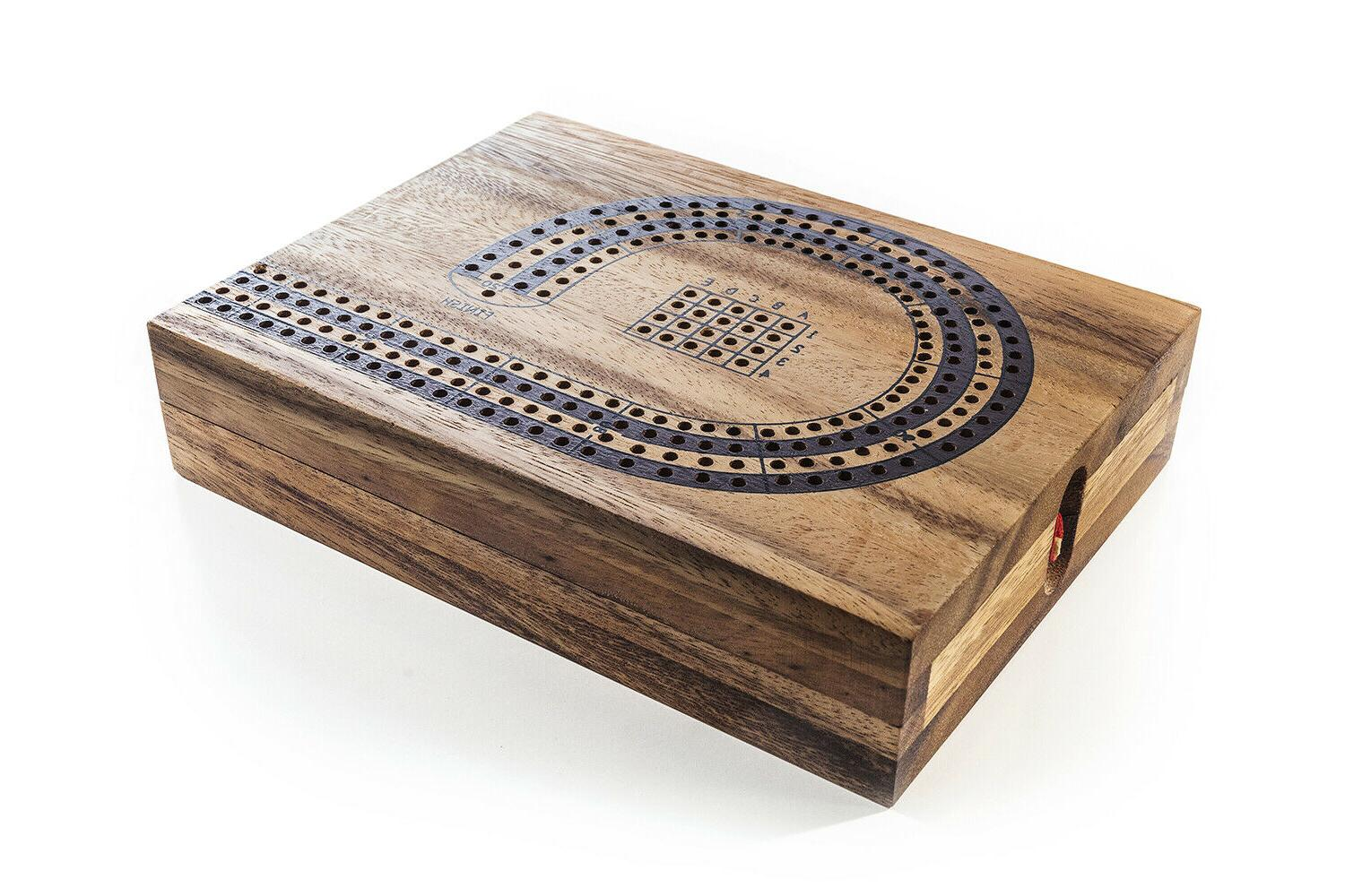 4 player cribbage strategy game wooden board