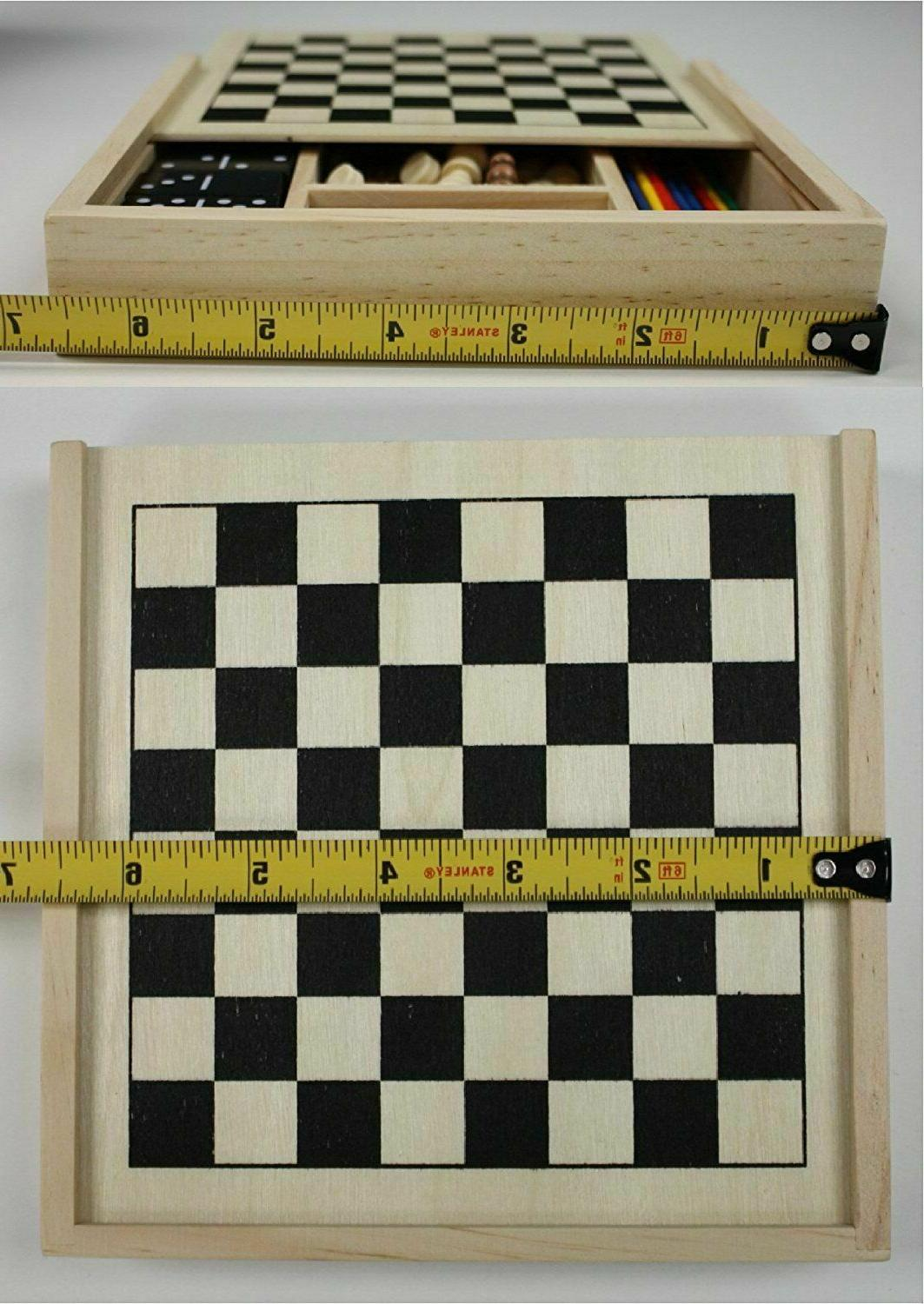 5-in-1 Wooden Set Chess Pick
