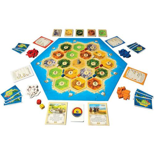 Catan 5th Edition Trade Build Card and Board