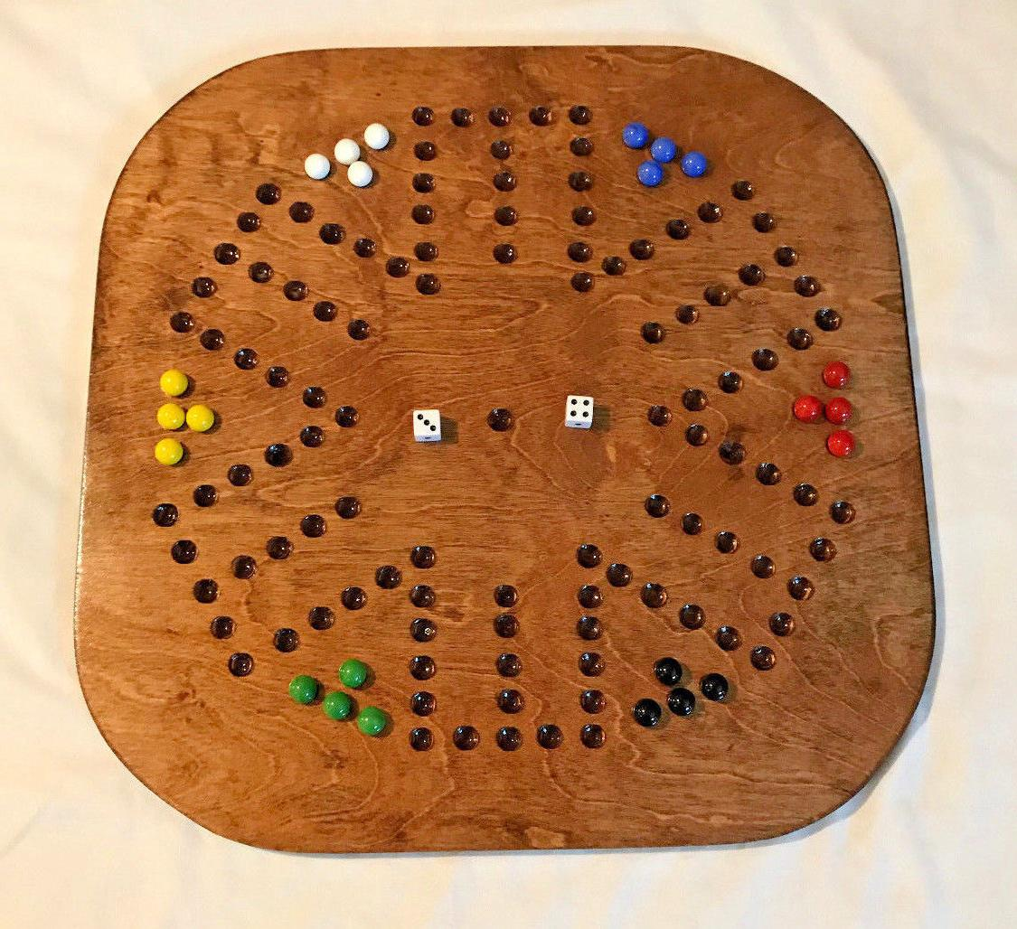 AGGRAVATION / WAHOO GAME – SIX PLAYER SQUARE WOODEN GAME B