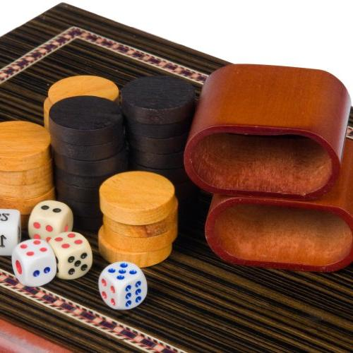 Backgammon Board Game - Wooden Lacquer Case