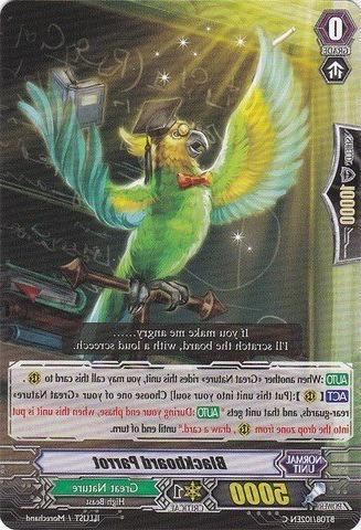 Cardfight!! Vanguard TCG - Blackboard Parrot  - Blue Storm A