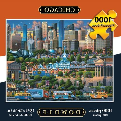 Jigsaw Puzzle - Chicago 1000 Pc By Dowdle Folk Art