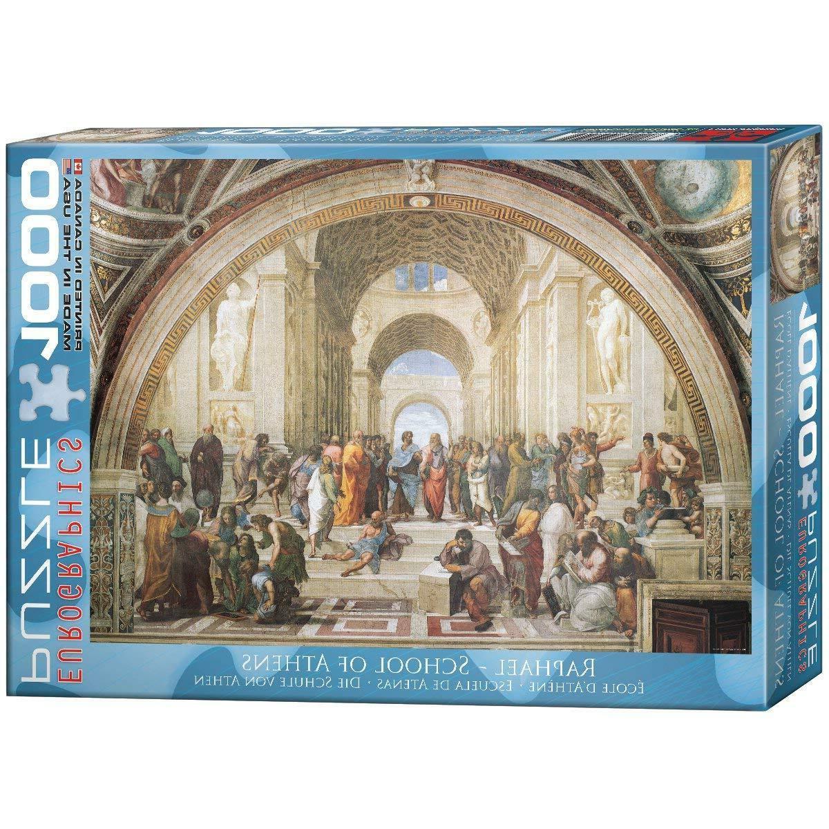 Raphael JIGSAW PUZZLE EG60004141 Eurographics Puzzle 1000 Pc  School of Athens